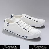 小白鞋 小白鞋板鞋男士鞋休閒帆布鞋子男韓版潮流鞋 快速出貨