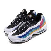 Nike 慢跑鞋 Air Max 95 Premium 白 紅 金 藍 女鞋 休閒鞋 氣墊 【PUMP306】 CI1900-123