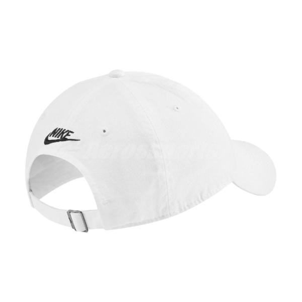 Nike 帽子 NSW H86 Futura Washed Cap 白 黑 男女款 老帽 棒球帽 鴨舌帽 【ACS】 CQ9512-100