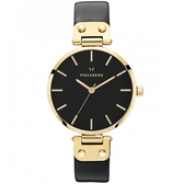 【台南 時代鐘錶 MOCKBERG】瑞典工藝 MO113 北歐極簡風格 SAGA時尚腕錶 皮帶 金 34mm