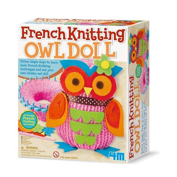 《 4M美勞創作》貓頭鷹娃娃 French Knitting Owl Doll  ╭★ JOYBUS玩具百貨