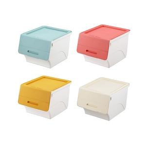 【日本squ+】Froq日製38.5面寬掀蓋直取式收納箱-4色1組單一規格