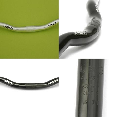 *阿亮單車*登山車鋁合金小彎把,對應25.4mm龍頭,亮黑與亮銀兩種可選《A51-515》