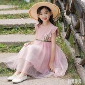 網紗洋裝 女童2019新款夏裝童裝兒童網紗裙子蓬蓬裙連身裙韓版公主裙 zh6399『美好時光』