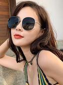 太陽眼鏡 GM墨鏡女正韓復古潮防紫外線ins 太陽鏡街拍圓臉