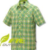 FIT維特 GS1202-41果綠色 男格紋吸排抗UV短袖襯衫