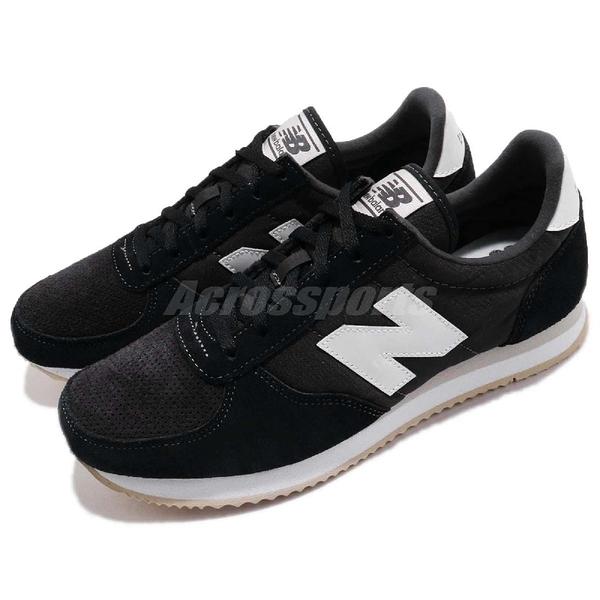 New Balance 復古慢跑鞋 220 NB 黑 白 麂皮 黑白 基本款 運動鞋 女鞋【ACS】 WL220TDB