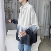 高級感長袖襯衫男裝港風ins潮流韓版上衣春季寬鬆襯衣 萬聖節全館免運