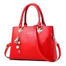 手提包 紅色包包女2021新款時尚結婚新娘婚包婚禮手提單肩斜挎中年媽媽包【快速出貨八折搶購】