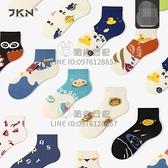 5双装 短筒襪子男女卡通襪子日系創意插畫學生百搭春秋短襪【贴身日记】