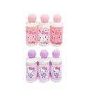 【Hello Kitty】沐浴旅行3件組 蘋果洋甘菊香味 粉色 紫色 60ml