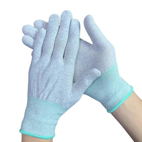 絕緣手套 碳纖維防靜電手套尼龍加厚耐磨無塵透氣電子廠勞保護納米作業手套 維多原創