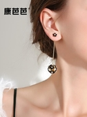 韓國版氣質花朵耳墜流蘇耳環女新款時尚百搭個性長款耳釘耳飾