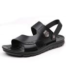 开车穿的凉鞋 男士涼鞋真皮休閒夏季軟底防滑沙灘鞋新款外穿拖鞋兩用涼拖鞋