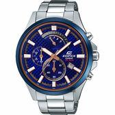 CASIO卡西歐 EDIFICE 賽車設計手錶-藍菱格紋 EFV-530DB-2AVUDF / EFV-530DB-2A