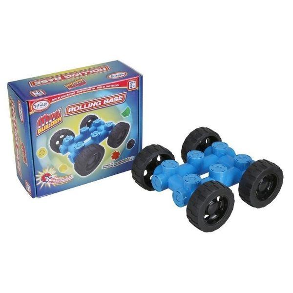【美國 POPULAR】幼兒磁性建構積木-車輪組 POP18304