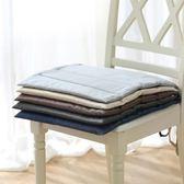 促銷款坐墊 簡約日式素色亞麻棉麻布藝凳子椅子坐墊餐桌椅墊薄款榻榻米座墊