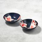 日本美濃燒 - 彩鯉釉染小碗成雙組