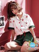 睡衣宮蝶睡衣女春夏季短袖棉質兩件套裝正韓寬鬆可外穿日系草莓家居服