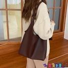 子母包 托特包女大容量韓版簡約側背包新款純色輕便軟皮子母大包包潮寶貝計畫 上新
