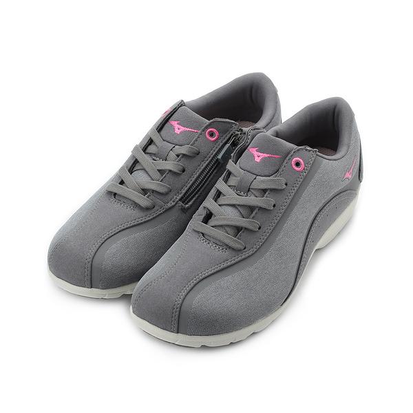 MIZUNO LS802 寬楦皮面健走鞋 灰 B1GF183203 女鞋