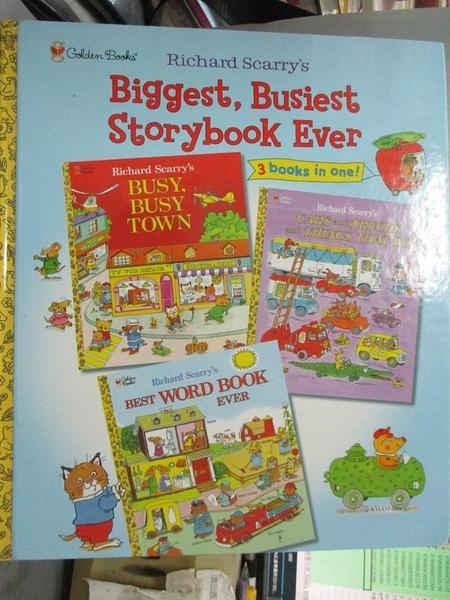 【書寶二手書T1/少年童書_YIN】Richard Scarry's Biggest, Busiest Storybook Ever: Featuri