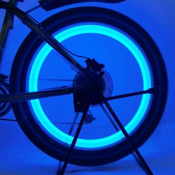 兒童自行車燈夜間七彩風火輪平衡車騎行裝飾夜光輻條燈地車圈閃燈