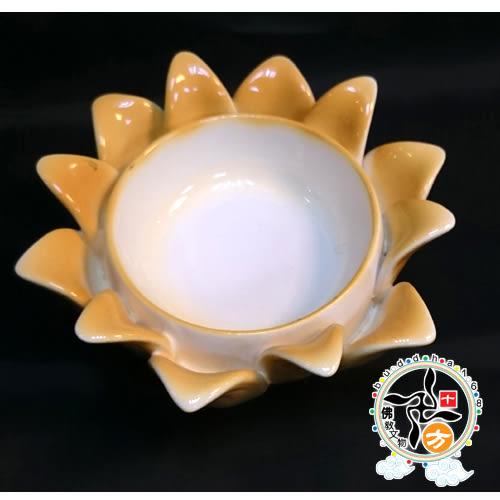 精緻橙瓷蓮座(官運,步步高昇) + 平安加持小佛卡【十方佛教文物】