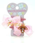 【玩之內】日本全新正版焦糖兔蜜糖邦妮音符緞帶髮夾 074008