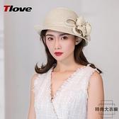 太陽帽漁夫帽時尚卷邊遮陽帽涼帽可折疊夏季【時尚大衣櫥】