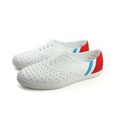 native JERICHO BLOCK 防水 洞洞 休閒鞋 懶人鞋 白/紅 女鞋 no700