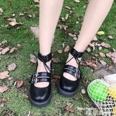 娃娃鞋日系新款軟妹兩穿小皮鞋厚底圓頭女鞋洛麗塔少女學生鞋可愛娃娃鞋 交換禮物