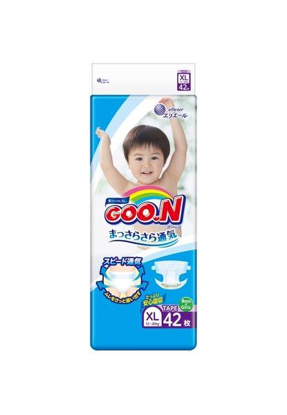 【GOO.N 日本大王】3D瞬吸日本境內版-大王黏貼型XL-42*4串/箱-箱購