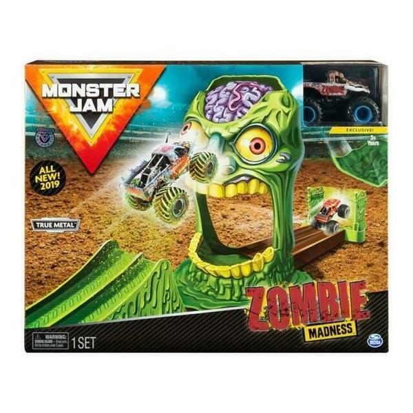 《 MONSTER JAM 》怪獸卡車 1比64合金車輛遊玩場景組 瘋狂殭屍 / JOYBUS玩具百貨