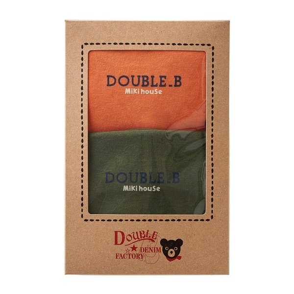 DOUBLE_B 基本款短袖T恤 2件裝(橙/綠)