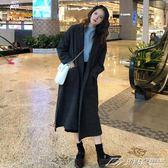 秋季新款韓版寬鬆chic慵懶風長袖風衣開衫長款外套上衣學生女  潮流前線