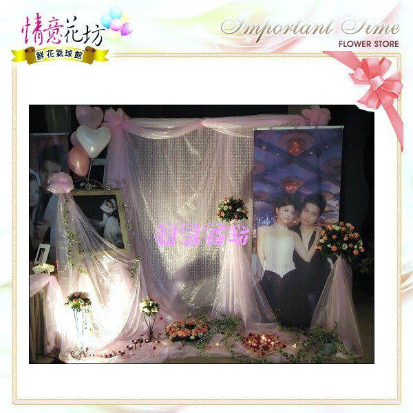 婚禮會場鮮花佈置包套優惠網友價只要9999元~北縣市永和網路花店