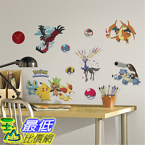 [美國直購] 神奇寶貝 精靈寶可夢周邊 RoomMates RMK2625SCS XY Pokemon Peel and Stick Wall Decals