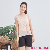 【RED HOUSE 蕾赫斯】條紋打結上衣(共2色)