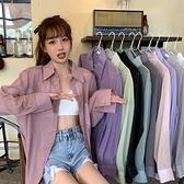 夏季2021新款防曬衣襯衫女外穿夏長款寬鬆百搭薄款上衣襯衣外套 【端午節特惠】