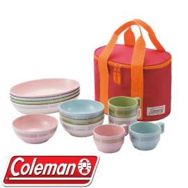【Coleman 美國 晶格餐盤組 《彩色》】CM-26766/餐盤組/餐具組/戶外餐具★滿額送