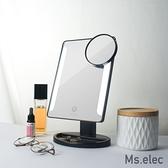 Ms.elec米嬉樂 觸控柔光化妝鏡 黑 LED化妝鏡 桌上鏡