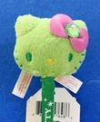【震撼精品百貨】Hello Kitty 凱蒂貓~日本三麗鷗 KITTY 造型絨毛原子筆/中性筆-綠大頭#57648