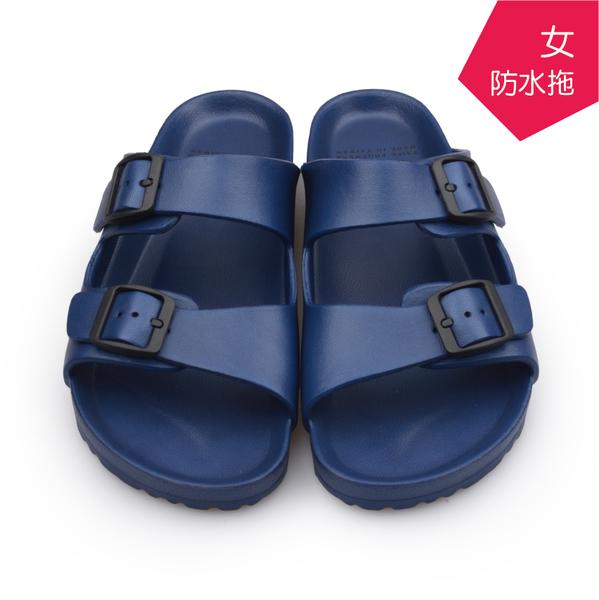 【台福製鞋】極輕量防水勃肯拖鞋-深藍/ 涼拖鞋 / 平底鞋 / 防潑水EVA / DH-1058
