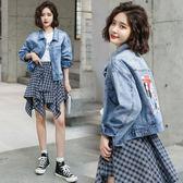 牛仔外套 韓版 夾克 風衣 花漾小姐【預購】