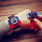 玩具手錶 變形電子手表抖音變身機器人兒童男女孩男童卡通潮流創意玩具【快速出貨八折特惠】