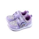 冰雪奇緣 Elsa Anna 休閒運動鞋 電燈鞋 魔鬼氈 粉紫色 中童 童鞋 FNKX04917 no753