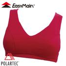 【EasyMain 衣力美 頂級彈性快乾運動胸衣 寬肩帶 暗紅】M001/內衣/運動內衣/運動背心