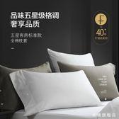 五星級酒店枕套純棉一對成人雙人情侶夏季素面全棉60支全棉枕套wy耶誕