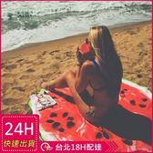 梨卡★現貨 - 熱帶水果西瓜色彩繽紛圓形沙灘墊野餐墊地墊 - 防曬披肩裹裙沙灘裙沙灘巾M107
